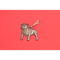 Staffordshire Bull Terrier Dog Zipper Pull Pewter Pet Gift