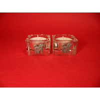 Cockapoo Motif On Square Glass Tea Light Holders Xmas Gift