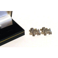 Schnauzer Dog Pewter Cufflinks Man's Fashion Gift
